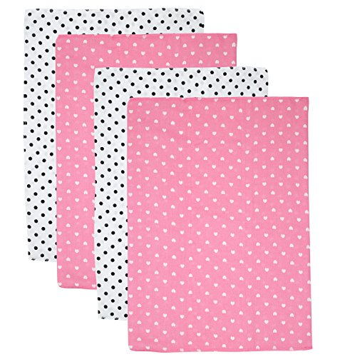 Gerber Prefold Gauze Cloth Diapers, 4 Count, One Size (Polka Dot) Gerber Infant Diapers