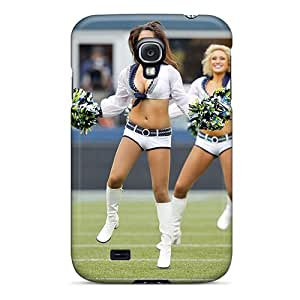 Tpu Case Cover Compatible For Galaxy S4/ Hot Case/ Seattle Seahawks Cheerleaders Nfl