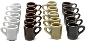 20 Mix Colorful Coffee Mug Tea Cup Dollhouse Miniatures Food Kitchen by Cool Price