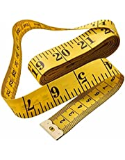 Body Measuring Tape, 1.5m Dual Sided Tape Measure for Body Measuring, Soft Measuring Tape Ruler for Cloth Fabric Tailor and Sewing, Yellow