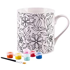 One of a Kind Decor! Perfect for decorating in a unique way after DIY painting a colorful Flower Design. These mugs are sure to grab the eye of your guests. Perfect for an after dinner cup of decaf or curl up on a cold night with some cocoa a...