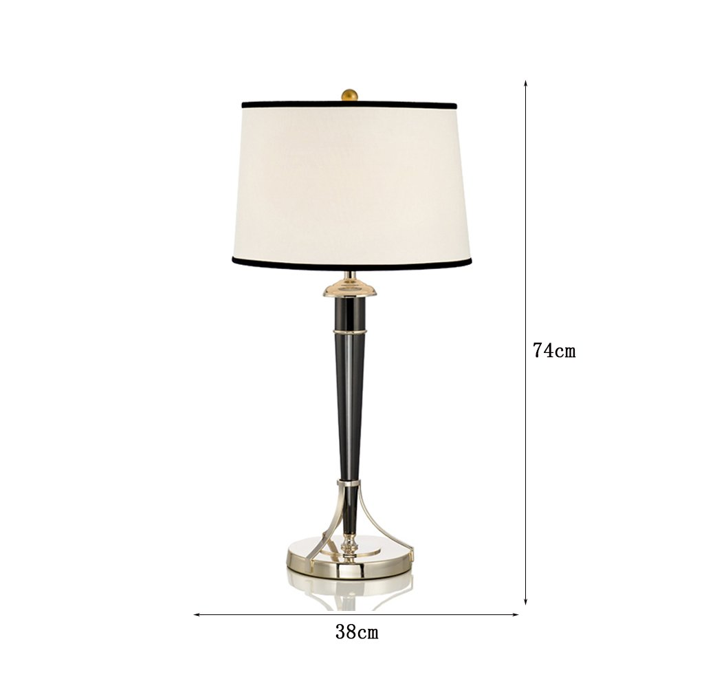 Yxsd Moderno Galvanoplastia Lámpara de Mesa Negra Dormitorio ...