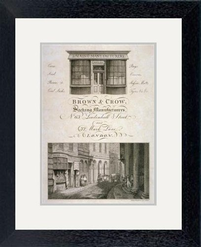 Print of \'Shop front of Brown and Crow, sacking manufacturers, 32 ...