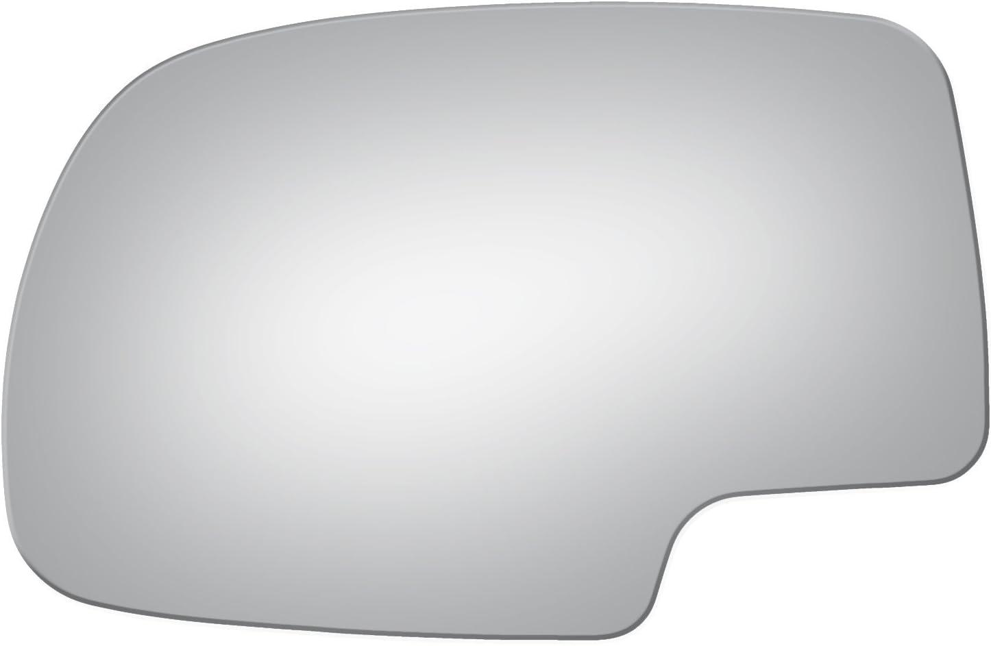 Replacement Mirror Glass for Chevrolet Silverado 2000-2006 SUBURBAN TAHOE YUKON XL Driver Side 1999 2000 2001 2002 2003 2004 2005 2006 2007 GMC SIERRA YUKON - Part Link #: GM1323633 Burco GLASS ONLY