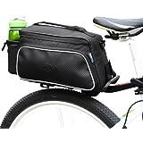 自転車 リアバッグ ROSWHEEL ロスホイール自転車 キャリア 着脱式 サイドバッグ サイクリング用 バッグ ブラック