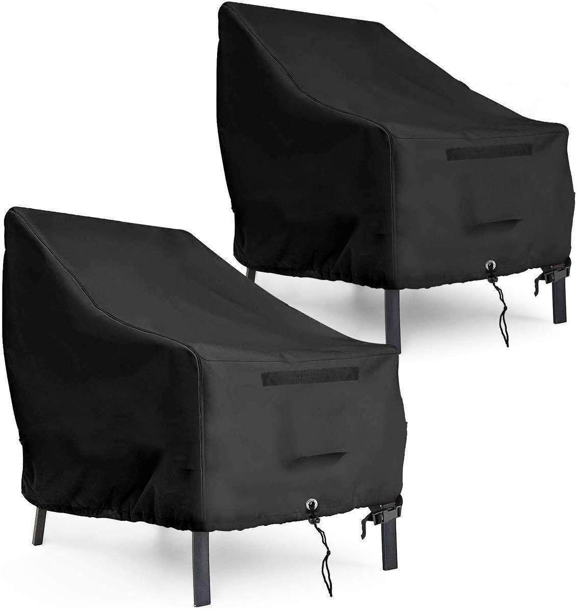AngLink Coperture per Sedie da Giardino x 2 Telo Protettivo per sedi 90 x 97 x 80 cm 600D Oxford Copertura Protettiva per Sedie Impilabili da Esterno Giardino