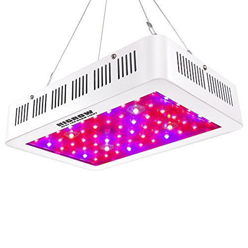 HIGROW 600W Double Chips LED Grow Light Full Spectrum Grow Lamp with Rope Hanger for Indoor Greenhouse Hydroponic Plants Veg and Flower by HIGROW