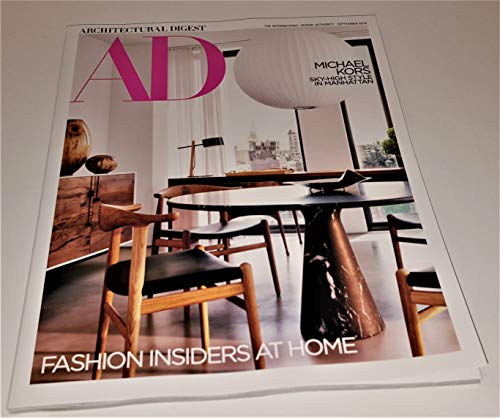 Architectural Digest September 2018 Michael Kors - Fashion Designers At Home