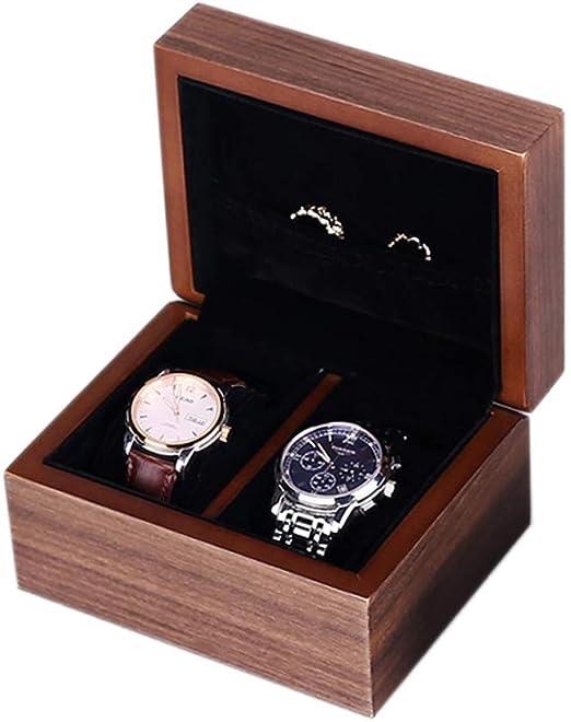 Caja de Reloj para Relojes Compartimentos de Madera para Hombre Mujer Caja de exhibición Caja de joyería con Ranuras Soporte de Exhibición Organizador Estuche: Amazon.es: Hogar