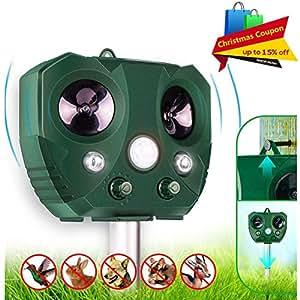 Amazon.com : Bozily Animal Repellent Outdoor, Ultrasonic