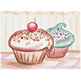 "Ailovyo Cupcakes Doormats Cover Rubber Non-Slip Machine Washable Outdoor Indoor Decor Rug (23.6""x15.7"")"