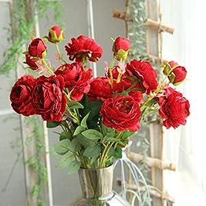 Juesi Artificial Rose Silk Flower Blossom Bridal Bouquet for Home Wedding Decor, 1PCS 75