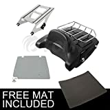 TCMT Chopped Tour Pak Pack Trunk For Harley Davidson Touring Street Road Glide 2014 2015 2016 2017 2018