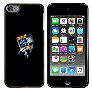Qstar Arte & diseño plástico duro Fundas Cover Cubre Hard Case Cover para Apple iPod Touch 6 6th Touch6 (Divertido Joker Playing empuje Tarjetas)