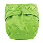 Bumkins Cloth Diaper Snap All-In-One (AIO) or Pocket, 7-28lbs, Green