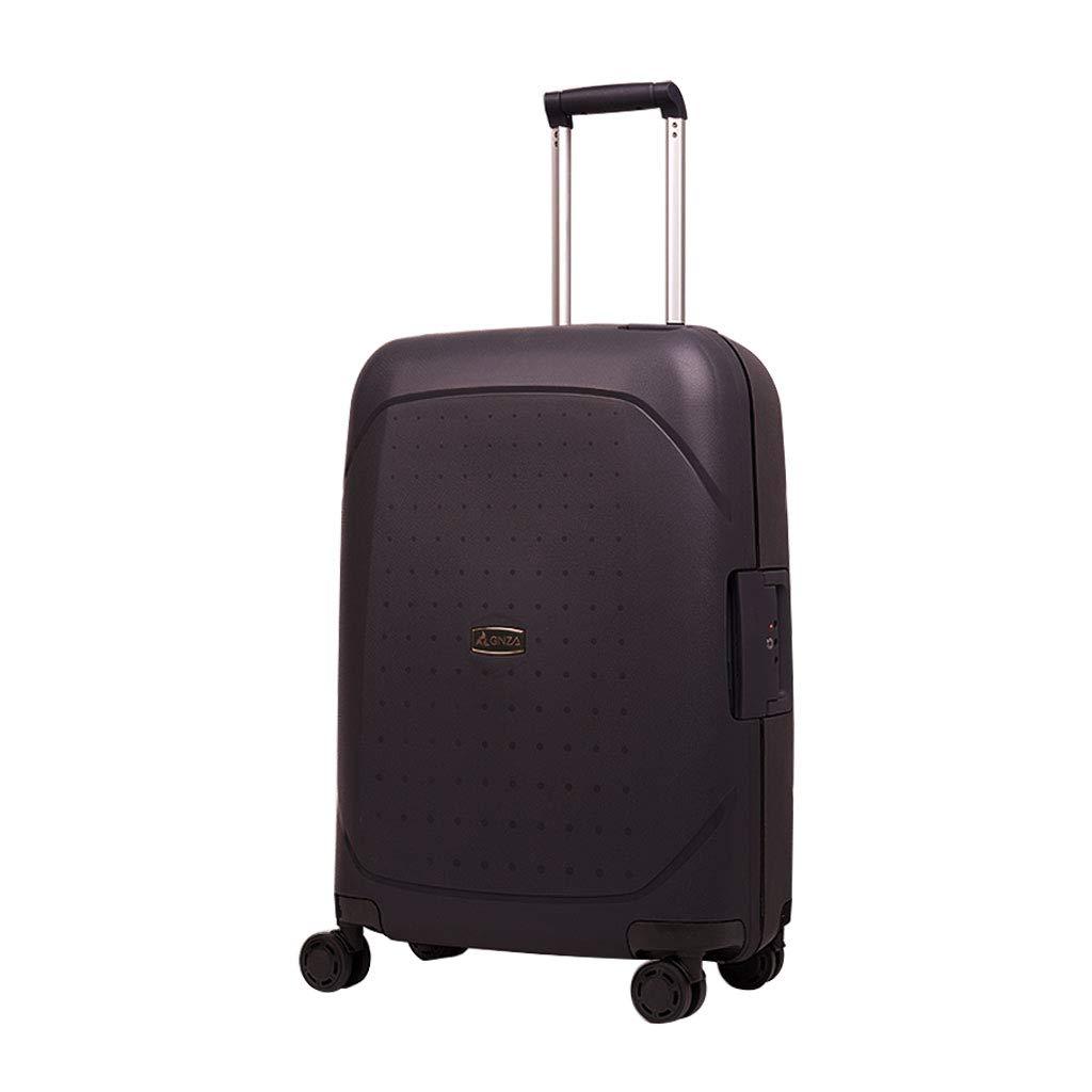 ウルトラライトハードシェルは4つの車輪が付いているスーツケースの荷物、ハードシェルキャビン手荷物のスーツケース、ブラック(3サイズ)を続けています 38*20*56cm  B07MW685TM