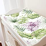 Carousel Designs Purple Painted Tropical Changing Pad Cover - Organic 100% Cotton Change Pad Cover - Made in The USA