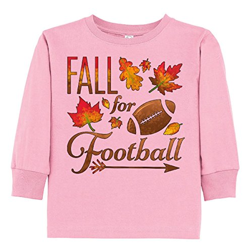 - inktastic - Fall for Football Toddler Long Sleeve T-Shirt 2T Pink 2c161