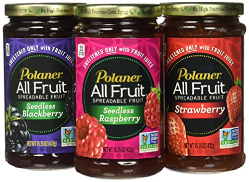 Polaner All Fruit Non-GMO Spreadable Fruit, Assorted Flavors, 15.25 oz (Pack of ()