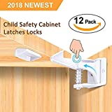 Magnetic Cabinet Locks Child Safety for Baby proofing Cabinets, Drawers, Door & Cupboards | 8 Locks + 2 Keys | Child Proof Cabinet Locks are Easy to Install | No Tools, Screws or Drilling