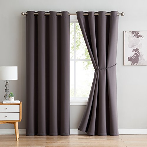Nicole   Solid Thermal Insulated Curtain | Premium Grommet Blackout Window  Curtain Panel | Ideal For Any Room And Bedroom   Premium Draperies And  Curtains ...
