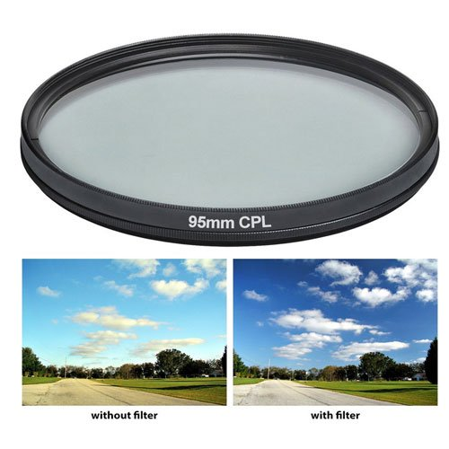 95mm Pro series Multi-Coated High Resolution Polarized Filter For Tamron SP 150-600mm f/5-6.3 Di VC USD Lens by Elite Pro