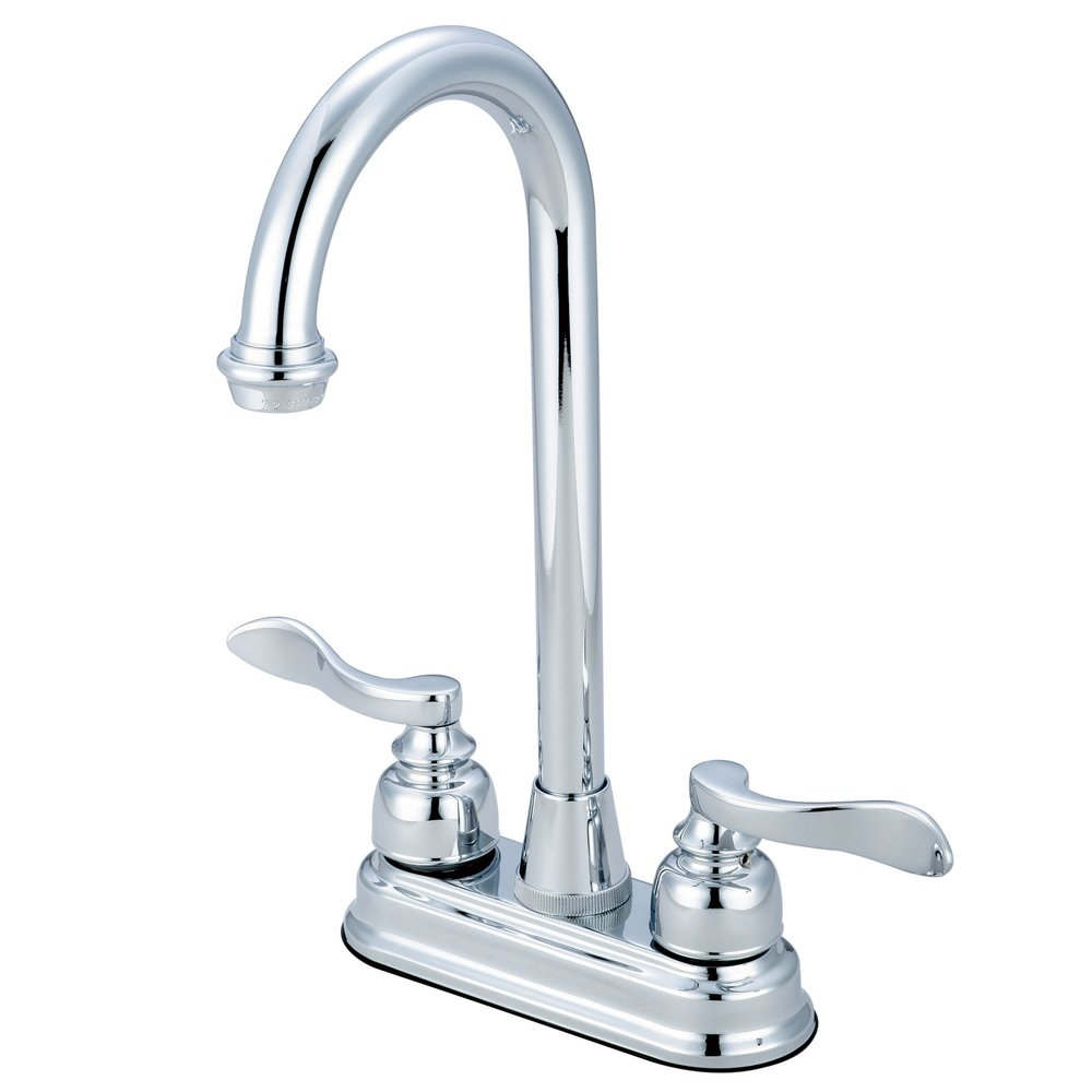 "hot sale Kingston Brass KB8491NFL+ Nuwave French Centerset Faucet, 4"", Polished Chrome Finish"