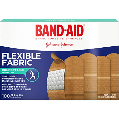 Band-Aid Adhesive Bandages, Flexible Fabric, All One Size