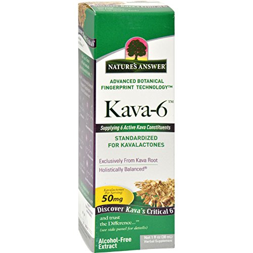 Natures Answer Kava 6 Extract - Alcohol Free - 1 oz