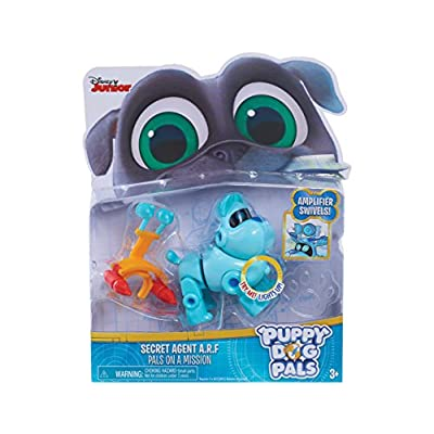 Puppy Dog Pals Light Up Pals On A Mission -A.R.F. with Amplifer & Rocket: Toys & Games