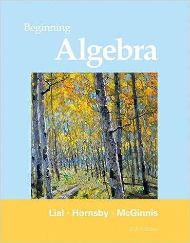 Beginning Algebra (11th Edition): Margaret L. Lial, John Hornsby ...