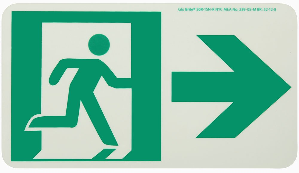 Exit sign with running man