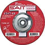 United Abrasives 7'' X 1/4'' X 5/8'' - 11 A24T 24 Grit Aluminum Oxide Type 27 Grinding Wheel, 10 Each