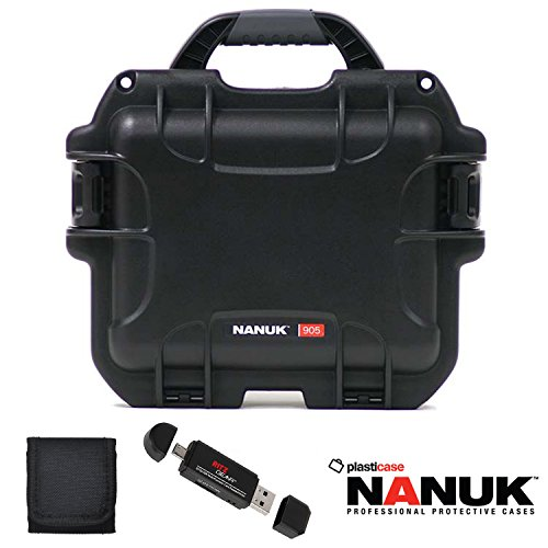 nanuk-905-hard-case-with-cubed-foam-black-memory-card-wallet-and-ritz-gear-card-reader-writer