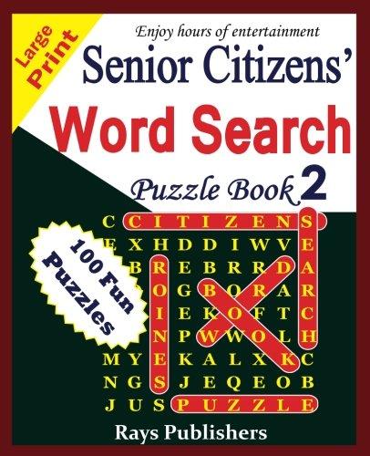Senior Citizens' word search puzzle book 2 (Volume 2)