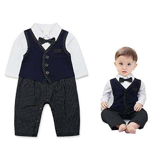 baby-boys-jumpsuit-romper-vest-bowtie-3-pieces-clothes-gentleman-tuxedo-suit-806-12-months-navy-blue
