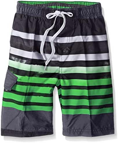 Kanu Surf Boys' Reflection Stripe Swim Trunk