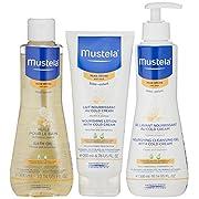 Mustela Dry Skin Bathtime Set, 2.04 Lb.