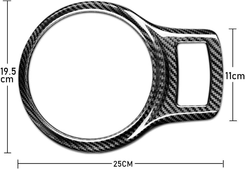 AIRSPEED Carbon Fiber Car Gear Shift Panel Frame Cover Interior Trim Sticker for Subaru BRZ Toyota 86 2013-2020 Accessories