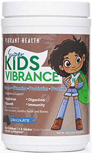 Santé vibrant Super Kids Cool chocolat - verts, vitamines, probiotiques et 14 portions de protéines