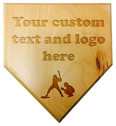 Customized Engraved Personalized Wood Mini Custom Baseball Home Plate Plaque at Wedding Groomsman Favor Ring Bearer Gift ()