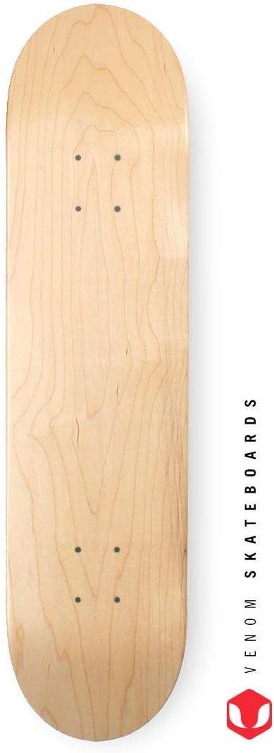 VENOM Tabla de Skate Pro Skateboards 4 tama/ños Color Natural 19,68; 20; 20,95; 21,59 cm