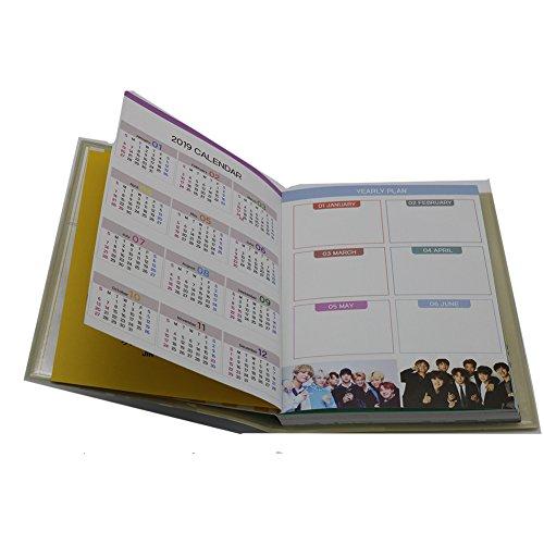 BTS KPOP bolsillo Planificador calendario calendario agenda ...