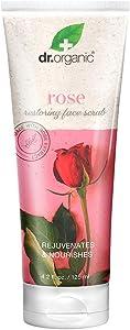 Dr.Organic Restoring Face Scrub with Organic Rose Extract, 4.2 fl oz