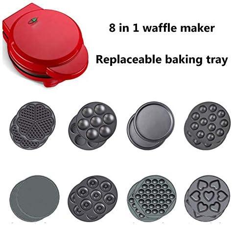 Máquina para hacer gofres Máquina para hacer refrigerios antiadherente 5 en 1 para hamburguesas gourmet Sándwiches pollo Panini o refrigerios con envoltura cordón y manija fría para el desayuno, el a