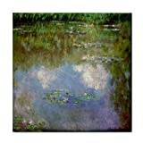 Water Lilies (The Clouds) by Claude Monet Tile Trivet