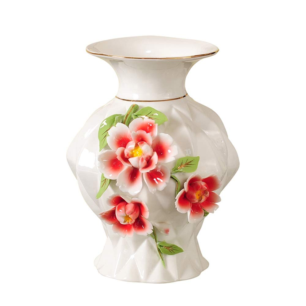 セラミック花瓶用花緑植物結婚式植木鉢装飾ホームオフィスデスク花瓶花バスケットフロア花瓶良い材料 (サイズ さいず : S s) B07RLBQVF1  S s