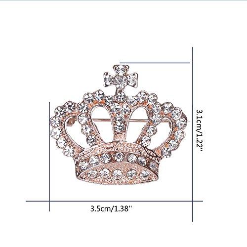 JAGENIE Fashion Rhinestone Style Brooch Pin Crown Design Breastpin Vintage Wedding Gift