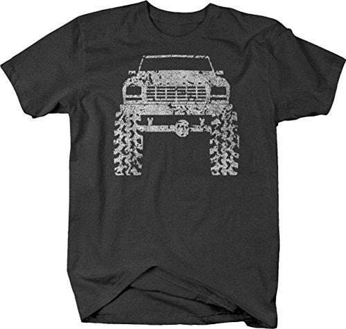 OS Gear Distressed - 1980's 90's Ford Bronco Lifted Mud Tires Truck Tshirt - 3XL