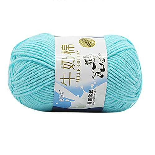 Gram Wool Ball 50 Yarn (50g One Ball Milk Cotton Wool Yarn Chunky Colorful Hand-woven Knitting Crocheting Scores Yarn for Hat,Scarf,Blanket 10 Colors (D))